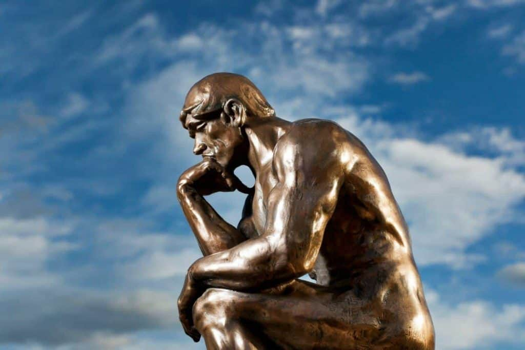 statue in thought