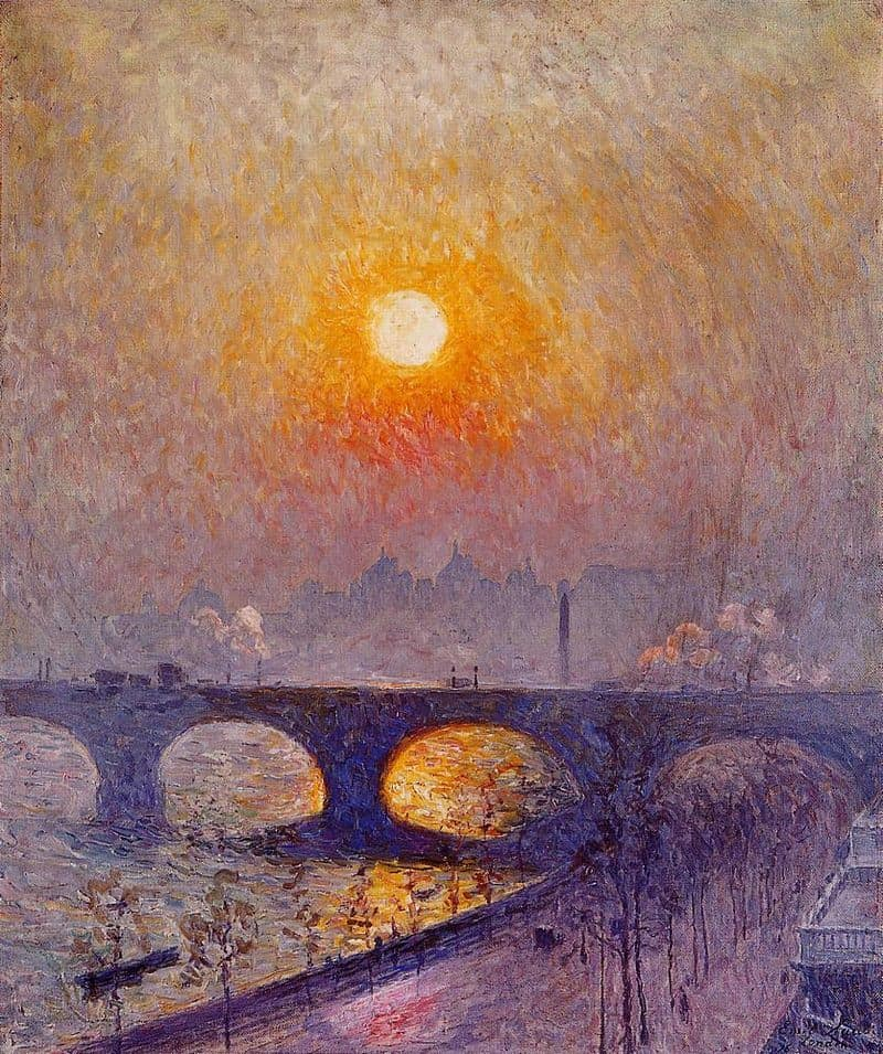 Sunset over Waterloo Bridge (1916)